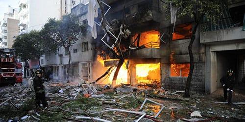 наблюдать взрыв дома от газа