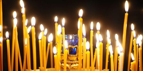 царкоўныя свечкі бачыць у сне