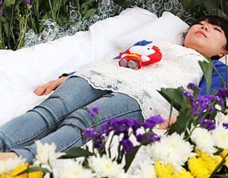Гроб с живым человеком