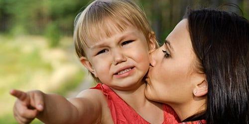 успокаивать ребенка