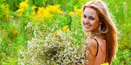 собирать полевые цветы