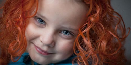 девочка с медными волосами