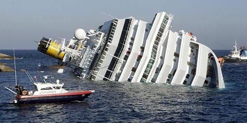 крушение корабля