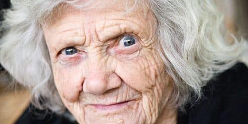 страшная старая бабка