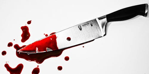 убить человека ножом