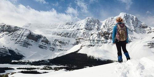 подняться на снежную гору