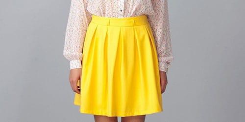 желтенькая юбка