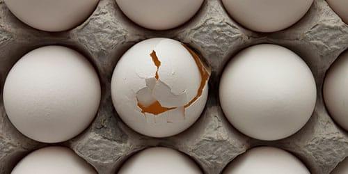 треснутое яйцо