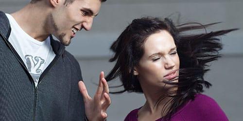 ударить женщину по лицу