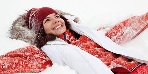 упасть в снег
