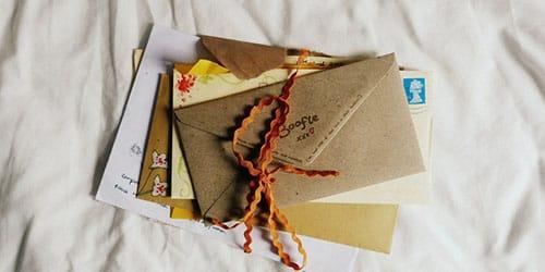 письма с открытками