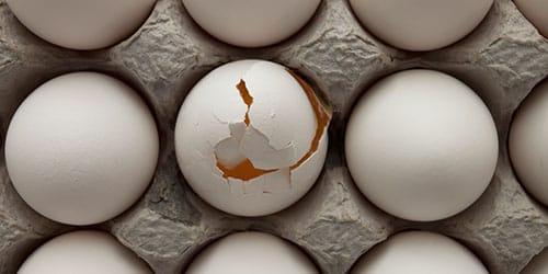 битые яйца