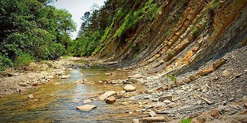 река пересохла