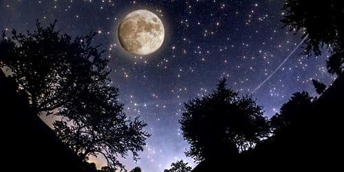 луна в небе