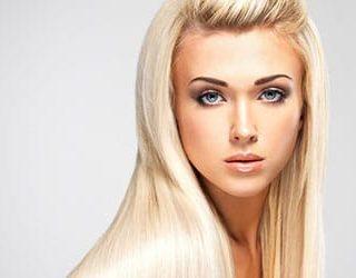 Белые длинные волосы