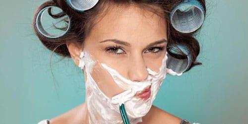 сбривать волосы на лице