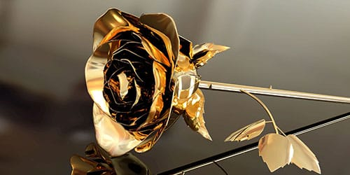 цветок из золота