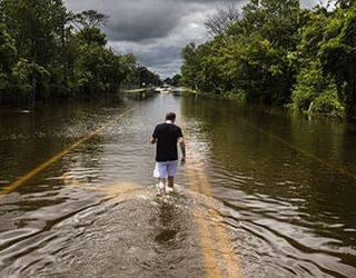Наводнение на улице