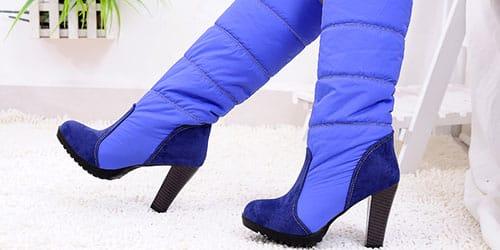 синие полусапожки