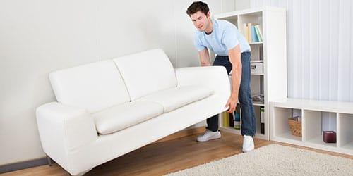 двигать диван