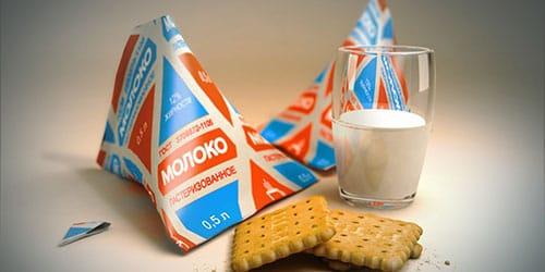 молоко в пакетах