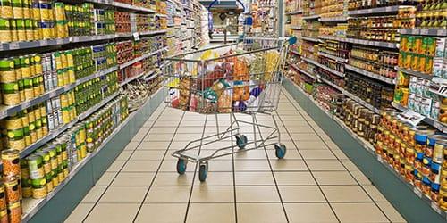в магазине нет людей