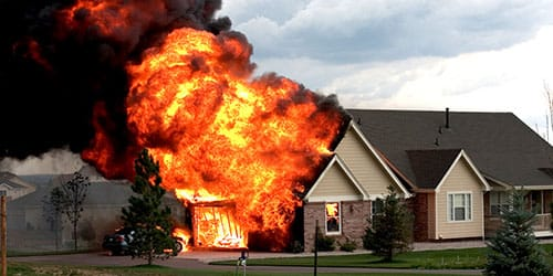 взорвался дом