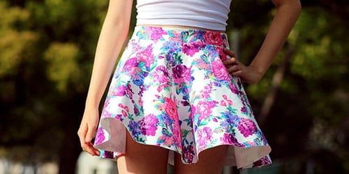 цветная юбочка