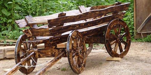 деревянная телега
