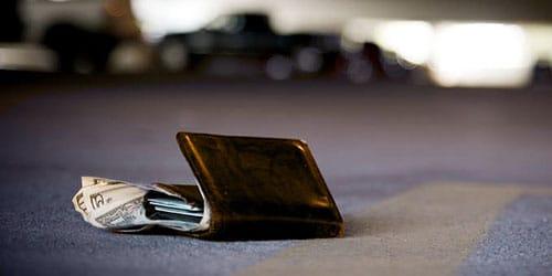 потерять бумажник