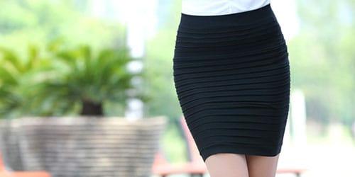 черная юбочка