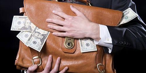 сумка с долларами
