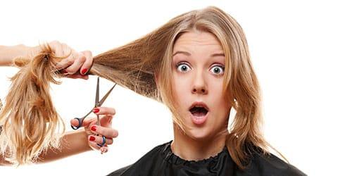 обрезать волосы