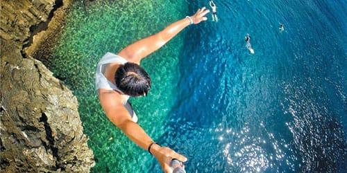 прыжок вниз