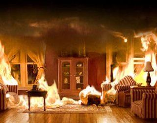 Сгорела квартира