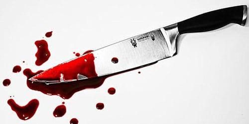 лезвие в крови