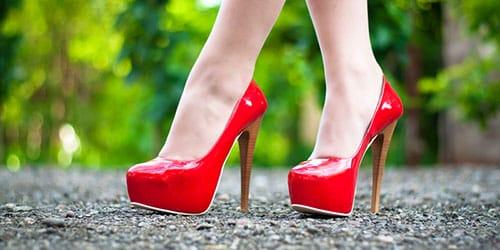 высокий каблук