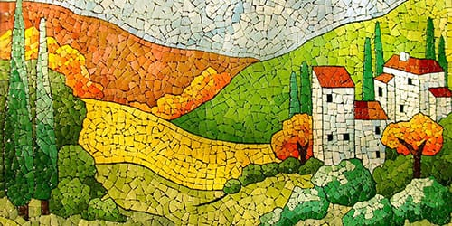 мозаичный узор