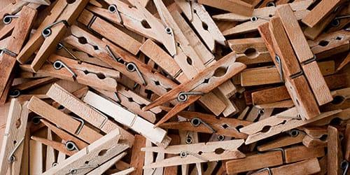 деревянные прищепки