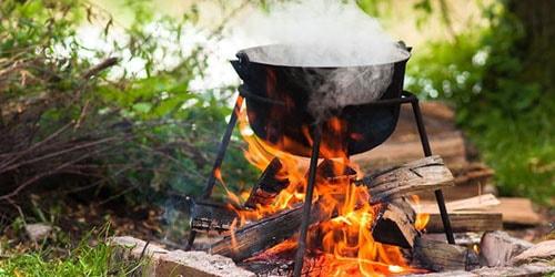 готовить на огне