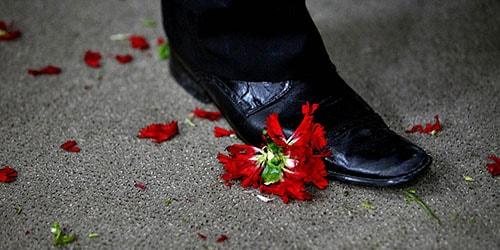 растоптать цветок