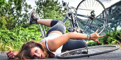 упасть с велосипеда