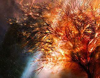 Горящее дерево