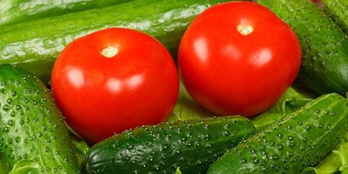Соленые огурцы помидоры