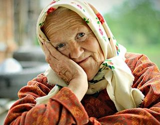 Умирает живая бабушка