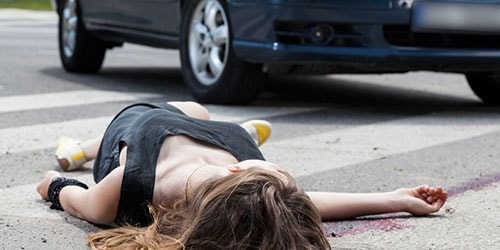 сбить пешехода