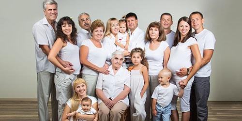 несколько поколений
