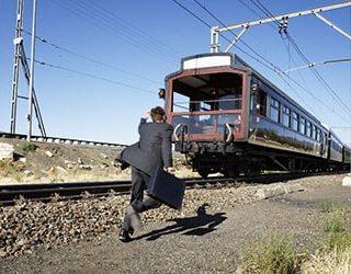 Бежать за поездом