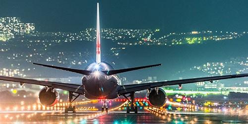 посадка авиалайнера