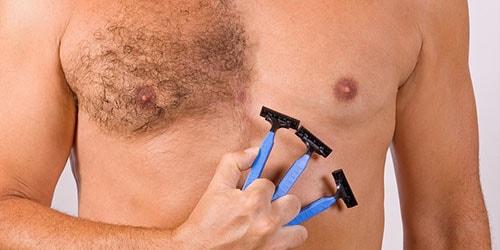 брить грудь